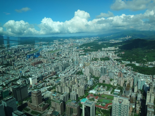 98 floors high! On top of the world? at Taipei 101
