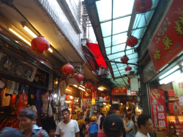 Jiufen Food Village. Crowded and very tourist-y
