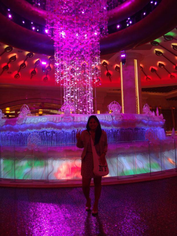Beautiful fountain at Galaxy Macau