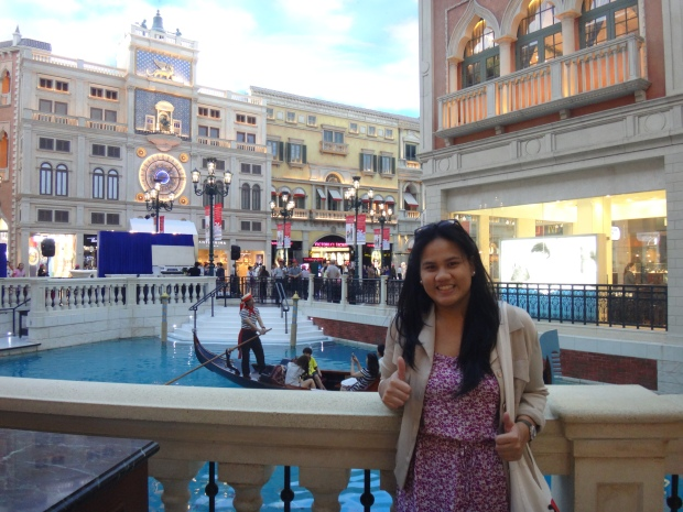 At the Venetian Hotel, Macau
