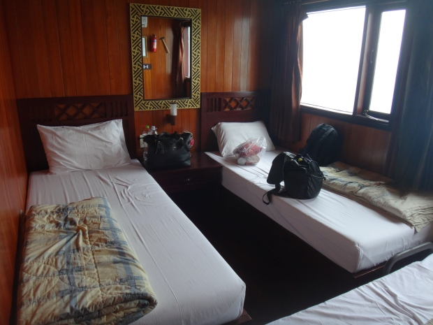 Our room at the Halong Party Boat