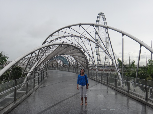 Mom at the Helix Bridge