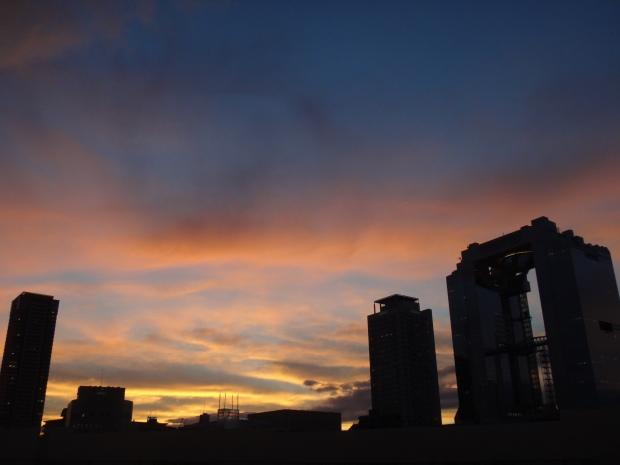 Umeda Building at Sunset