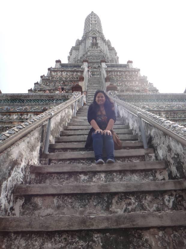 Super Steep Steps at Wat Arun! What a climb!