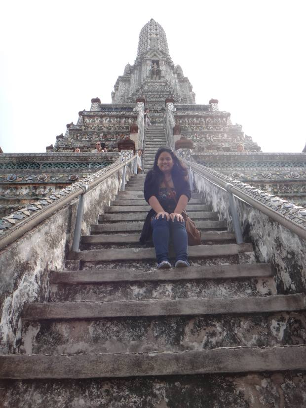 Super Steep Steps at Wat Arun! What a climb!