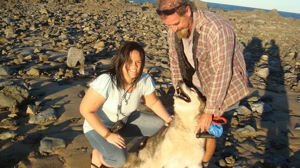 Cute dog at Bucasia Beach