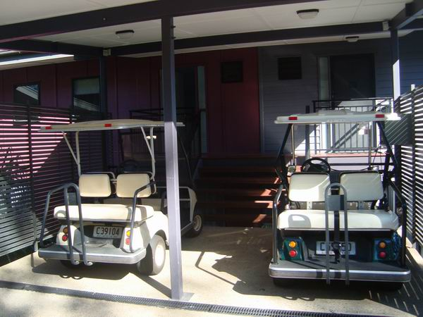 Our unit's golf carts!