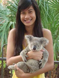 Iris with a Koala Bear