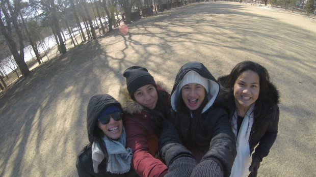 Playing around with the GoPro at Nami Island