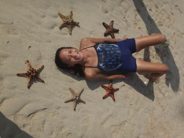 Starfishes at the Sanbar during low tide