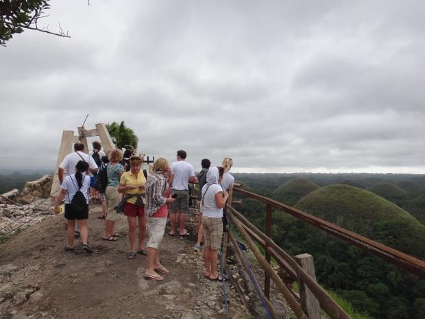 Damaged Tourist View Deck at Chocolate Hills