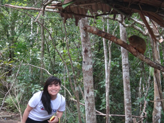 Pia and the Tarsier