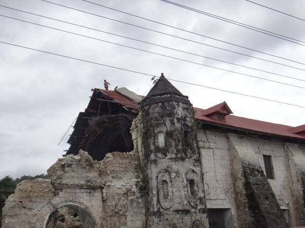 Damaged Church from Typhoon