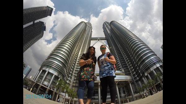 GoPro Shot at Petronas Towers. Photo from Elaine Scanlon