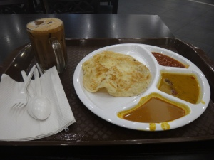Iced Coffee and Roti Platter at KLIA2 Food Court