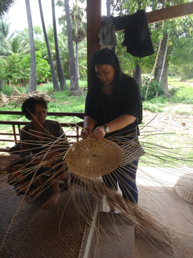 Basket Weaving at Local's Home in Siem Reap.