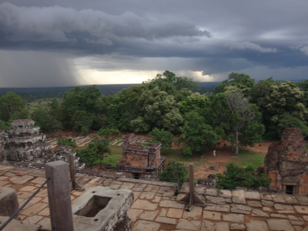 Rain view at Bakheng Mountain