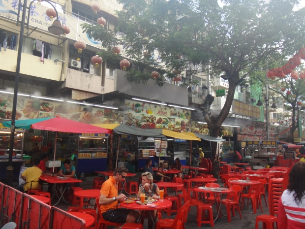 Stalls at Jalan Alor Food Street