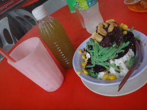 ABC dessert and Sugar Cane drink from Jalan Alor food street