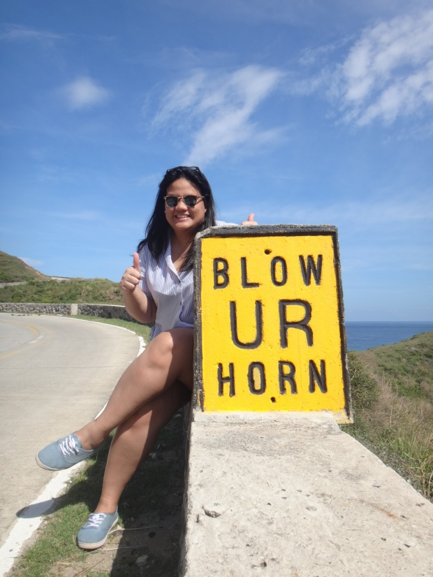 Blow UR Horn sign at Cliff Roads