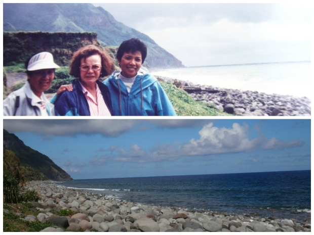 Lola and her friends at Boulder Beach. 1995 & 2015 shot.