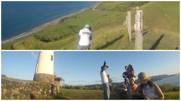 Kuya Ian taking pictures at Vayang Rolling Hills and telling us Batanes stories at the Naidi Lighthouse