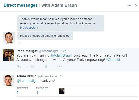 Tweets from Adam Braun
