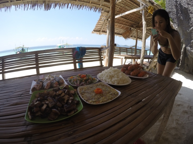 Our feast at Banol Beach!