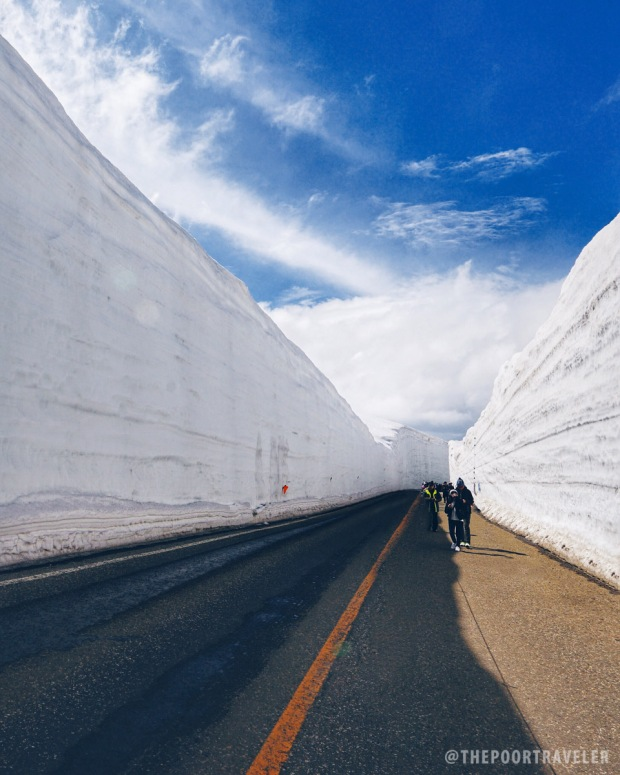 Snow Wall (Photo from Vins Carlos of The Poor Traveler)