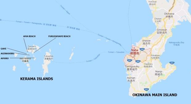 Okinawa Naha Zamami Map
