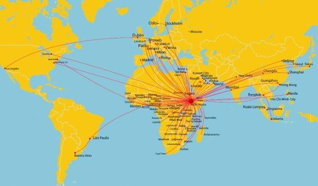 ethiopian airlines flight network