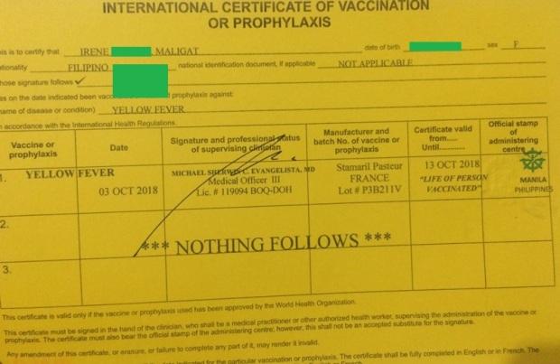 yellow fever vaccine (1)